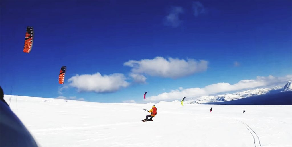 "Extreme Snowkiting ... ""MAY THE WIND BE WITH YOU"""